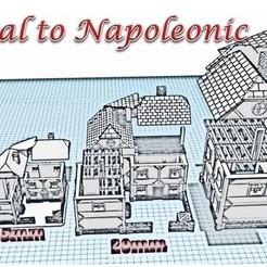 Download 3D printing templates Large Villa - Medieval Wargame in Napoleon, Eskice
