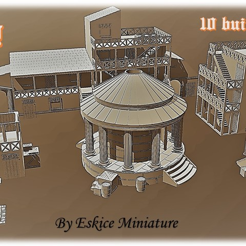 Affiche 1.jpg Download STL file Ancient city - Wargame • 3D printer object, Eskice