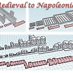 STL file Battlefields Accessory 2 - Medieval Wargame at Napoléon, Eskice