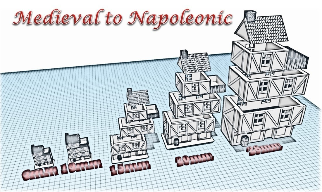 Building 1 - Medieval to Napoleonic.jpg Download STL file Building 1 - Medieval Wargame at Napoleon • 3D printer object, Eskice