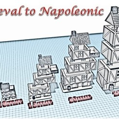 STL files Building 1 - Medieval Wargame at Napoleon, Eskice