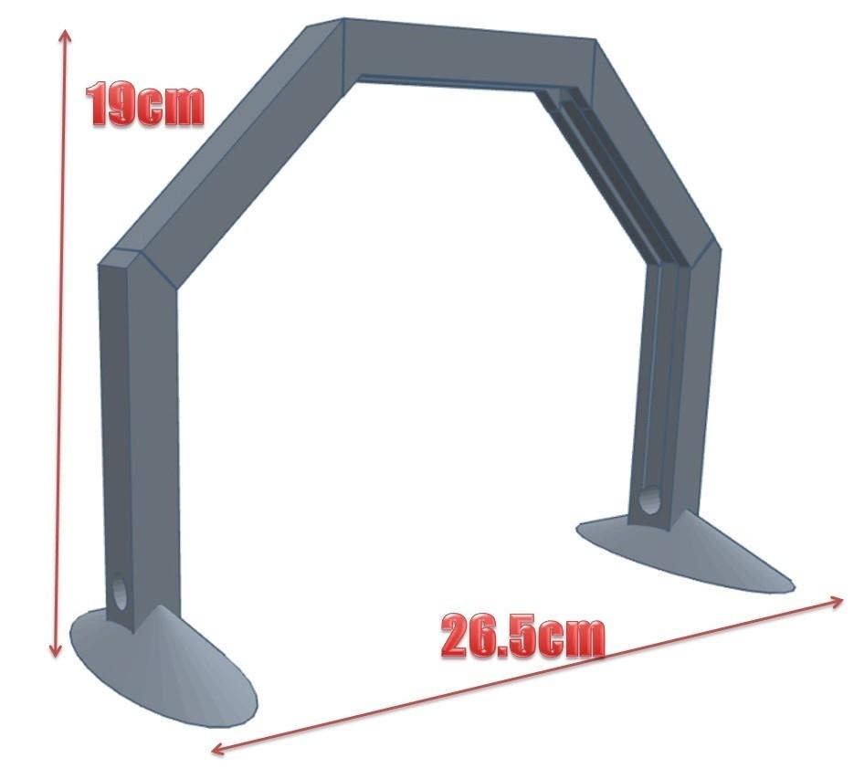 Lampe montée avec cotes.jpg Download STL file The Ark of Light - Desk Lamp for Precision Work • 3D printer object, Eskice