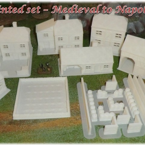 3D printer Ruined House 1 - Medieval Wargame in Napoleon