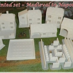 Download STL files Ruined House 1 - Medieval Wargame in Napoleon, Eskice