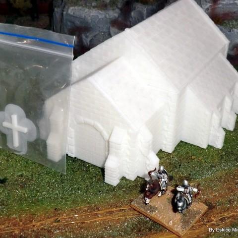 3d model Church - Medieval Wargame in Napoleon, Eskice
