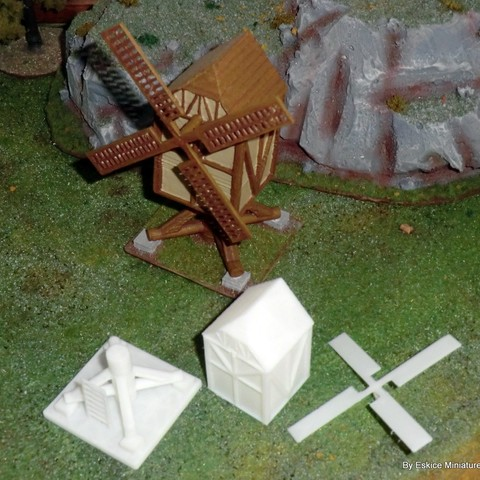 stl files Windmill - Medieval Wargame in Napoleon, Eskice