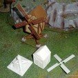 Download STL file Windmill - Medieval Wargame in Napoleon • 3D print object, Eskice