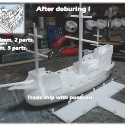 Download 3D printer designs Commercial vessel - Medieval wargame at Napoleon, Eskice