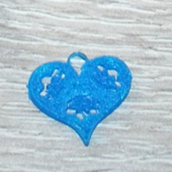 Free 3D printer designs Earrings heart, vanille59830