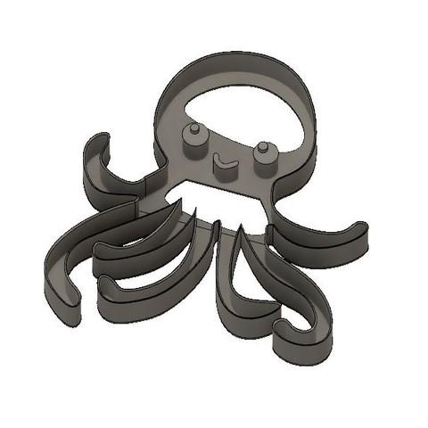Télécharger fichier imprimante 3D Coupe-biscuits pour bébé pieuvre, jdallasta