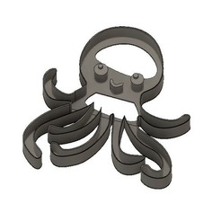 Download 3D printing templates Baby Octopus Cookie Cutter, jdallasta
