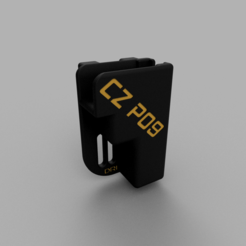 Download free 3D printer templates cz p09 holster, EvolvingExtrusions
