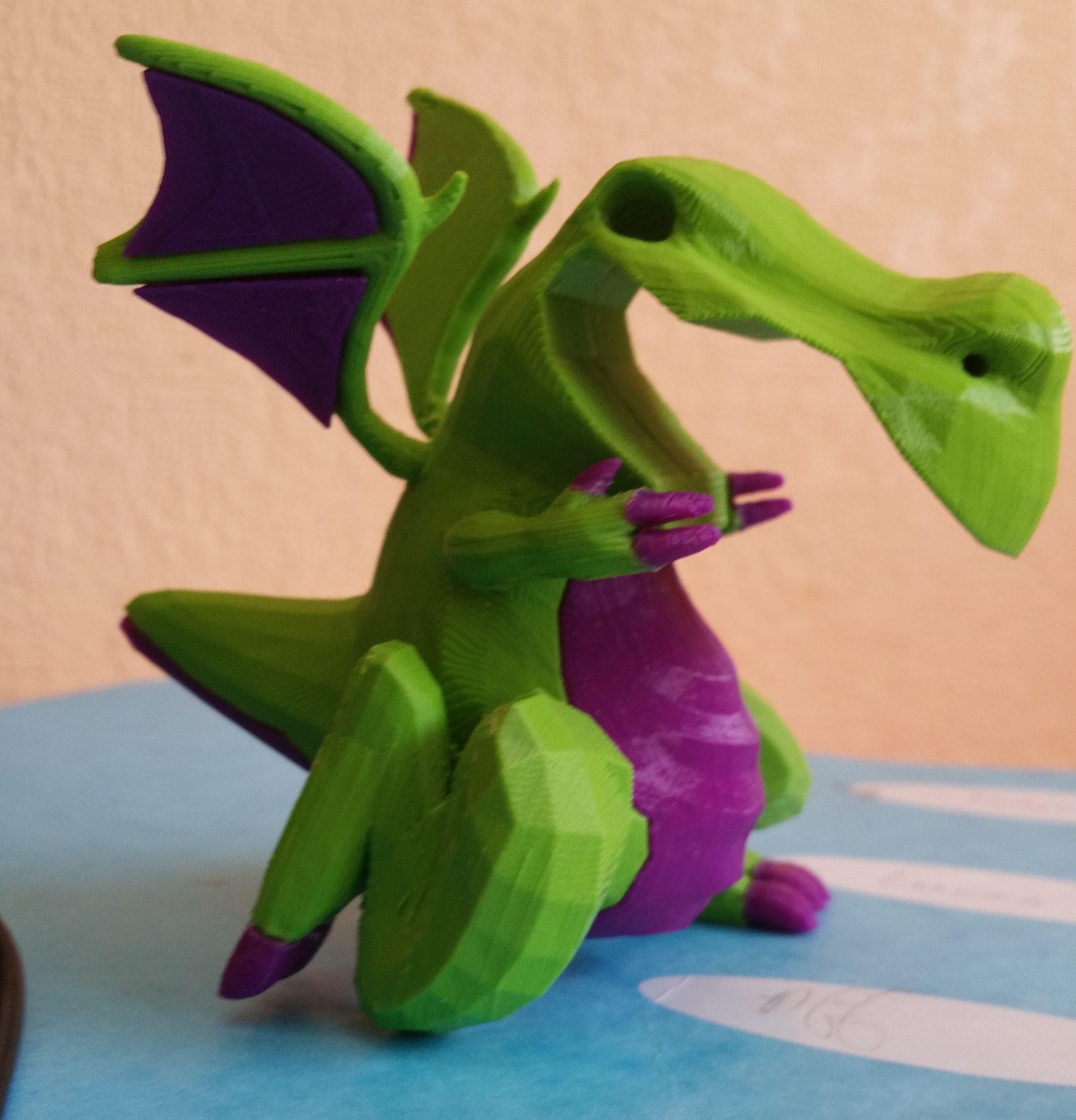 drag-profil0.jpg Download free STL file Dragon bicolor • 3D printer model, proteine