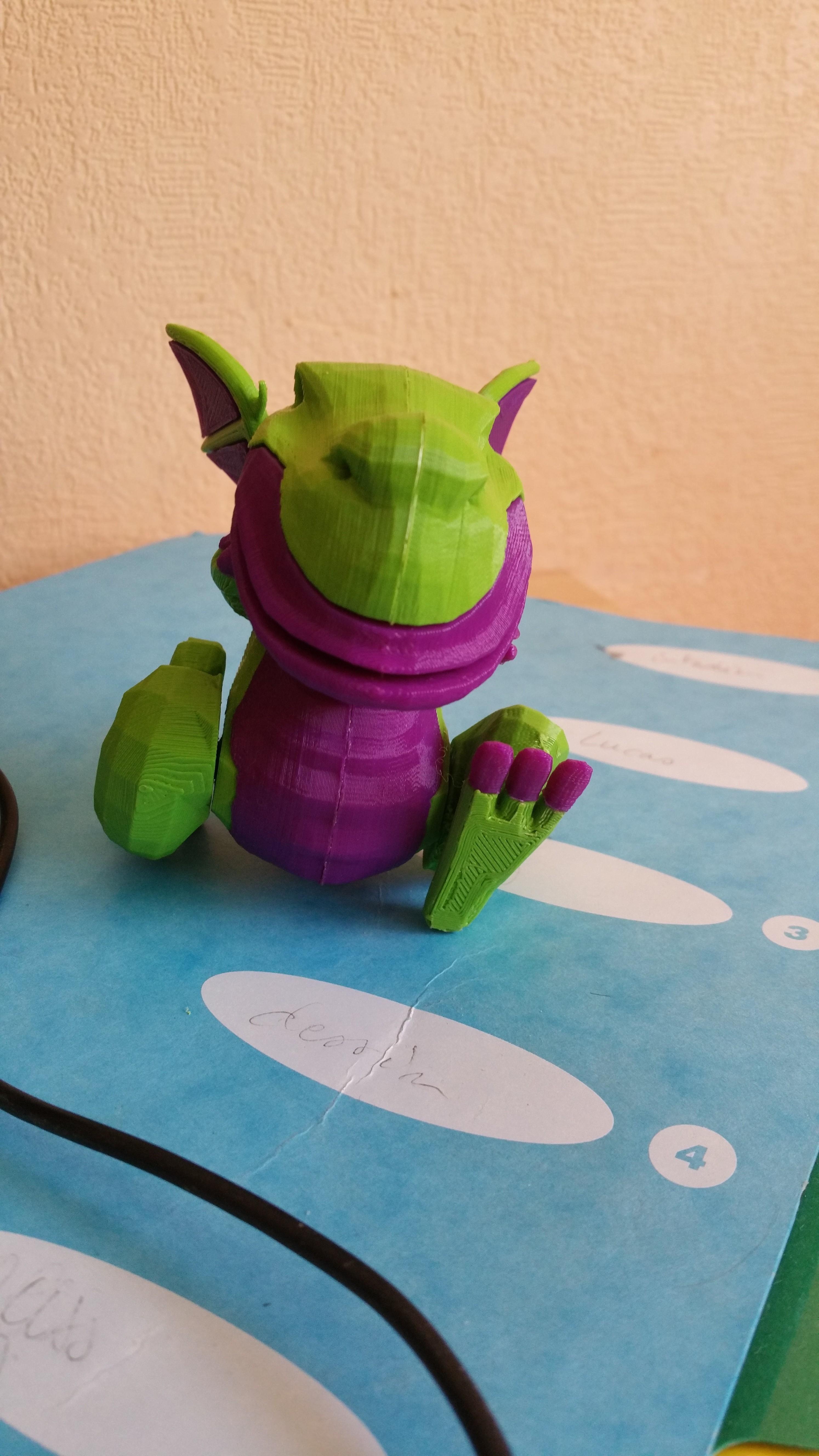 dargFace.jpg Download free STL file Dragon bicolor • 3D printer model, proteine