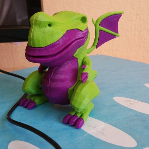 drag3-4.jpg Download free STL file Dragon bicolor • 3D printer model, proteine