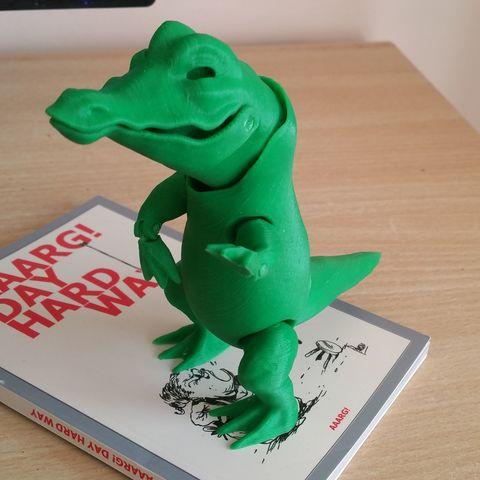 Modelos 3D para imprimir gratis dibujos animados cocodrilo (figura de acción), proteine