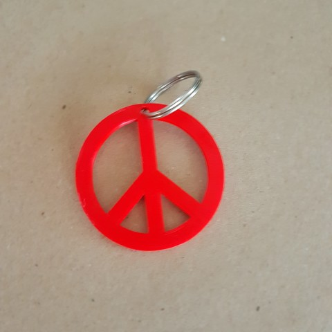Download STL file Peace and love key ring • 3D printing template, boosterdu46