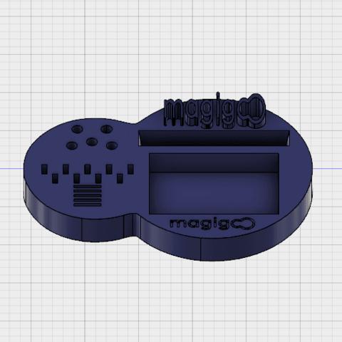 Free 3d printer files MAGIGOO desk stand, _xav