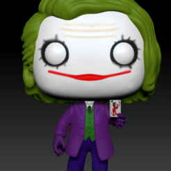 Download free 3D printing models Joker Funko Pop style, Giovani_Martani