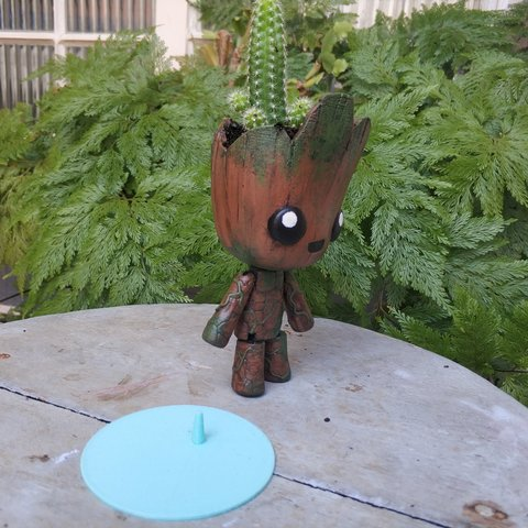 IMG_20181015_135725.jpg Download STL file Groot the articulated Planter • 3D printer object, Giovani_Martani
