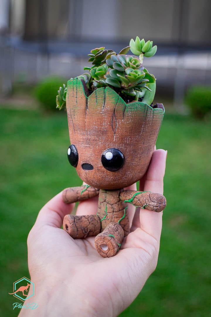 WhatsApp Image 2019-02-19 at 17.47.19.jpeg Download STL file Groot the articulated Planter • 3D printer object, Giovani_Martani
