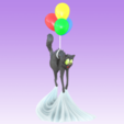 Download free STL file The Cat and the Balloon • 3D printer object, Giovani_Martani