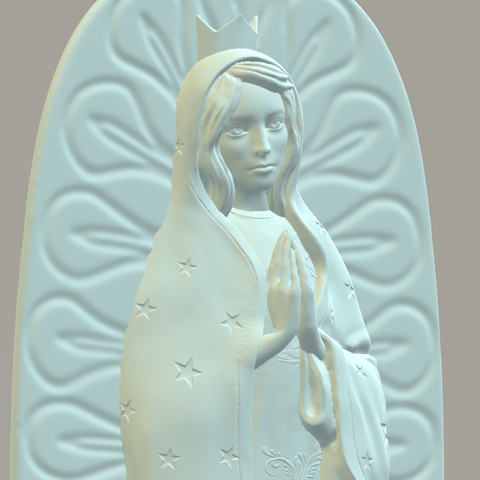 Download STL Our Lady of Guadalupe, Giovani_Martani