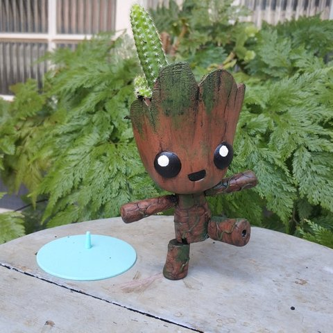 IMG_20181015_135546.jpg Download STL file Groot the articulated Planter • 3D printer object, Giovani_Martani
