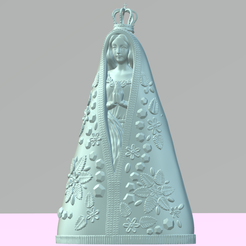 captura de tela1.png Download STL file Nossa Senhora de Aparecida • 3D printable model, Giovani_Martani