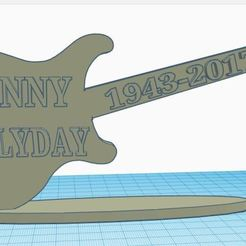 Download 3D printer templates guitars johnny hallyday, MjJM