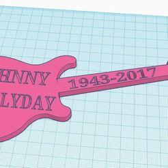 Download 3D printer designs guitars johnny hallyday 2, MjJM