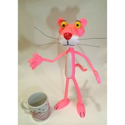 Download free 3D printing designs Pink Panther -- 86Duino, pinballero