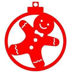 Diseño bola muñeco de galleta.JPG Download STL file Christmas ball christmas cookie doll design • 3D printing model, regata3dprint