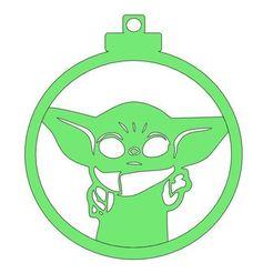 Diseño bola Baby Yoda.JPG Download STL file Christmas ball christmas Baby Yoda design • 3D print model, regata3dprint
