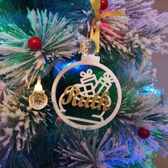 Bola regalos 3.jpg Download STL file Christmas ball christmas gifts bag design • 3D print model, regata3dprint
