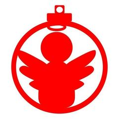 Diseño bola angel.JPG Download STL file Christmas ball christmas angel design • 3D printable design, regata3dprint