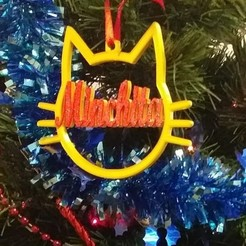 Bola gato.jpg Download STL file Christmas ball christmas cat design • 3D printer model, regata3dprint