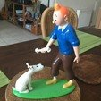 Download free STL file Tintin and Snowy • 3D print design, GabuZome