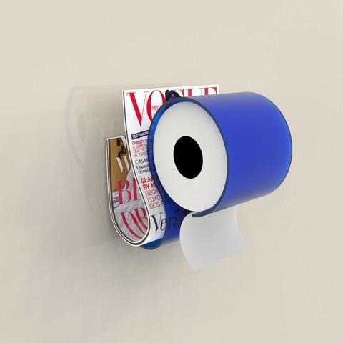 Modelos 3D para imprimir papel higiénico y periódico, jacopo