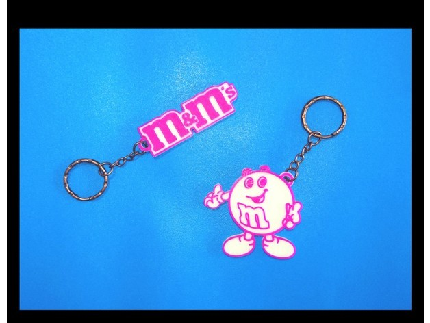 66241d4cafa7144abce6bf23b8f4b10e_preview_featured.jpg Download free STL file M&M's 2 Keychains • 3D printing design, 3dlito