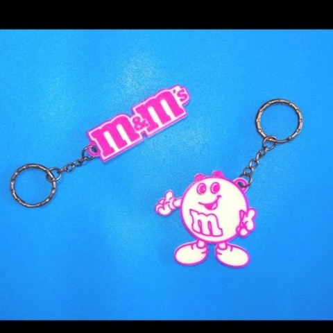 Free STL files M&M's 2 Keychains, 3dlito
