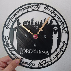 3D printer models clock the lord of the rings, 3dlito