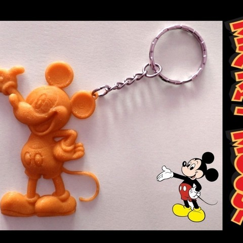 Download free STL file Mickey Mouse Keychain, 3dlito