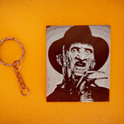 Free 3d printer designs Freddy Krueger keychain, 3dlito