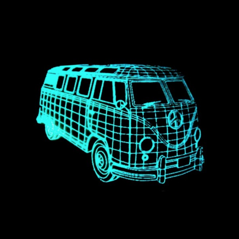 Free 3d print files VOLKSWAGEN lamp (Shine in the darkness), 3dlito