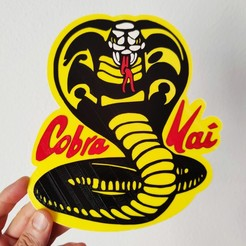 IMG_20200904_153746 one.jpg Download STL file Cobra Kai logo • 3D printer model, 3dlito