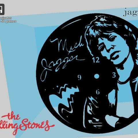 Download free 3D printing files Reloj Mick Jagger, 3dlito