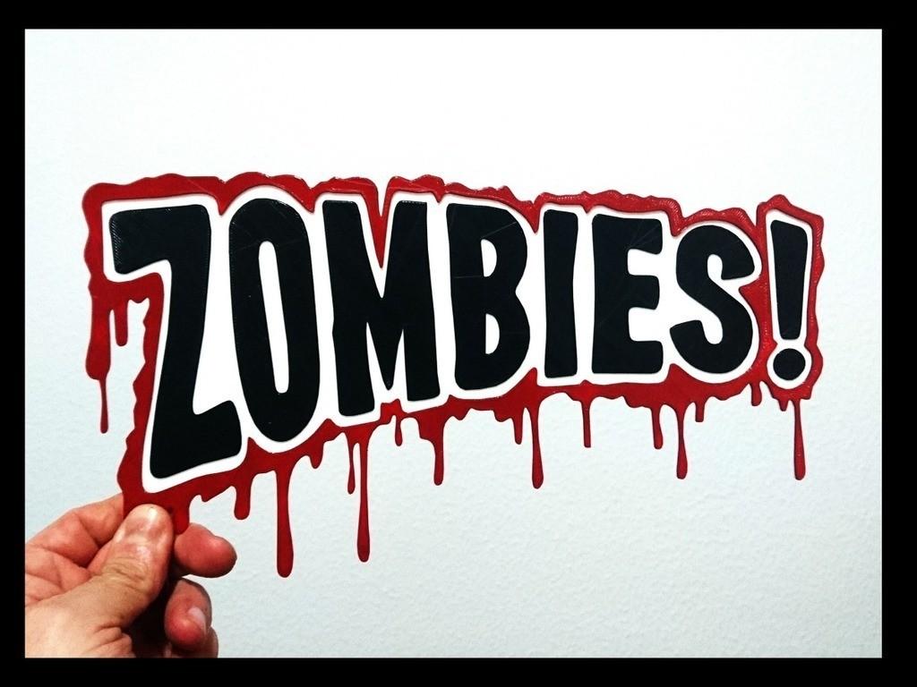 0ff223f3c9d0cc6274a40175c9cb3cc8_display_large.jpg Télécharger fichier STL gratuit Logo Zombies 2D • Modèle pour impression 3D, 3dlito