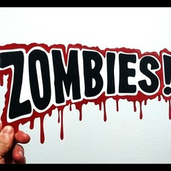 Download free 3D printing templates Logo Zombies 2D, 3dlito