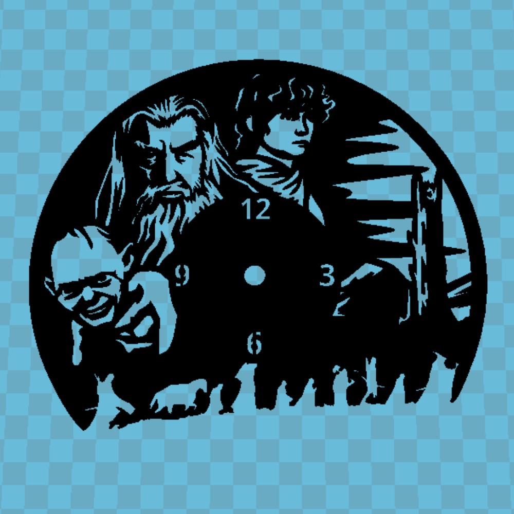 Sin Título (4).jpg Download free STL file El Hobbit Clock • 3D printable template, 3dlito